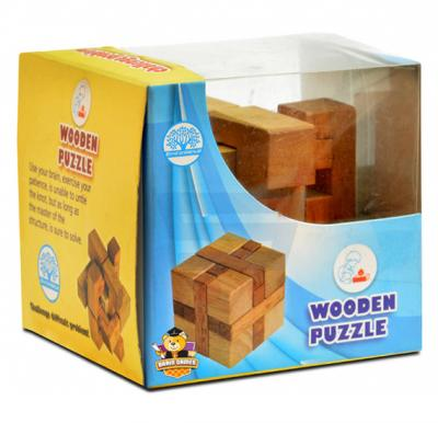 Brain Games Wooden Puzzle Cube