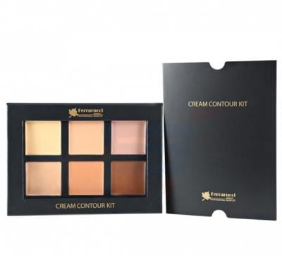 Ferrarucci Cream Contour Kit Medium 28g, 6 Multi Color