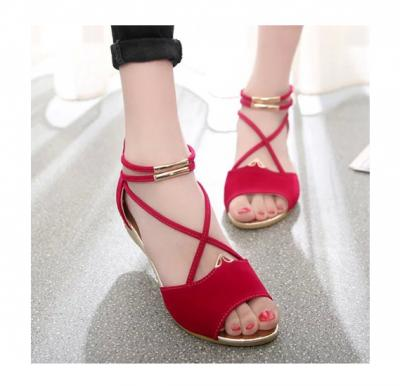 2019 Summer New Flat Sandals For Women Red , Size-36