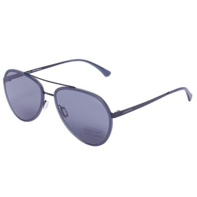 Jaguar 37585 Black Aviator Sunglasses, Size 56