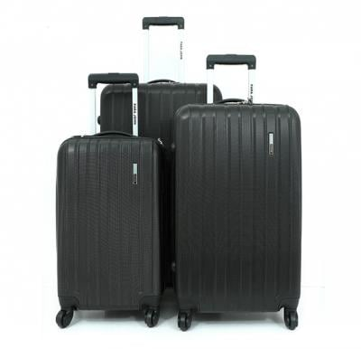 Para John PJTR3018B ABS Trolley Bag Set of 3 Pieces - Black