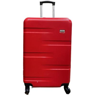 Traveller TR-1017 ABS With Pu Lining 4 Wheel Trolley 24 Inch Red