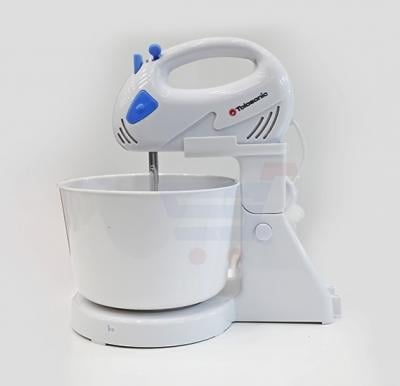Tolosonic Hand Mixer Bowl  With Bowl Plastic Body 120 Watts - TS-HM1001PW