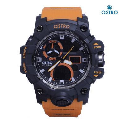 Astro Kids Analog-Digital Black Dial Watch A20808-ORANGE, Size 54