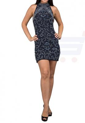 TFNC London Halterneck Party Dress Dark Grey - ANQ 46870 - L