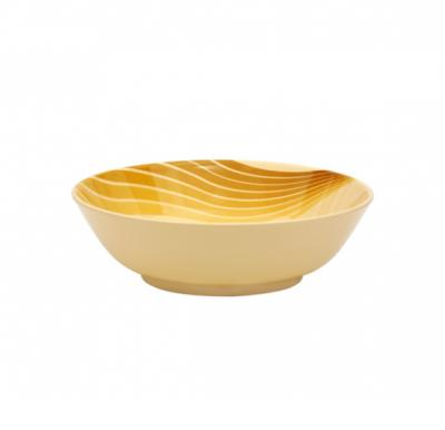 Royalford Melamine Ware 10 inch Soup Bowl With Lid Radiant Thai (Yellow) , RF8200