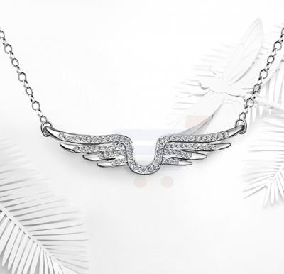Tiara Elements Multiple Rhinestones Embosed On A White Gold Plated Neckace - UN0221B