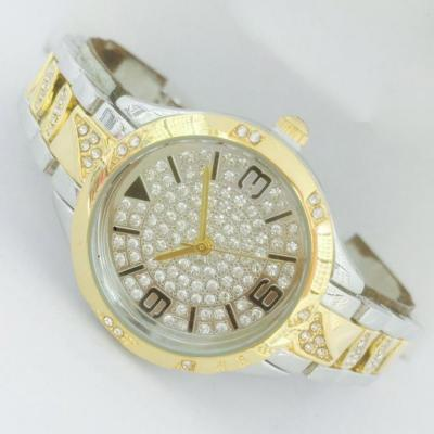 Catwalk Fashionable Cz Stone Covered Analog Stainless steel Silver Dial Watch for Women, CW1002