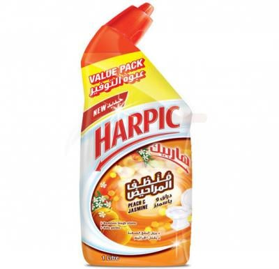 Harpic Fresh Peach and Jasmine Liquid Toilet Cleaner 1L
