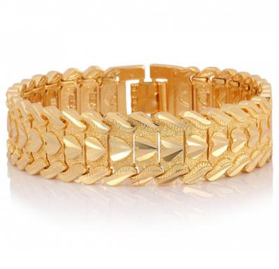 18K Real Gold Plated Chunky Trendy Bracelet