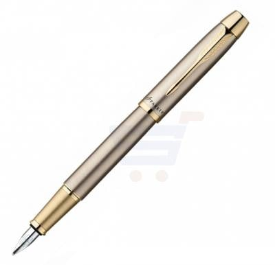 Parker IM Brushed Metal Gold Trim Fountain Pen