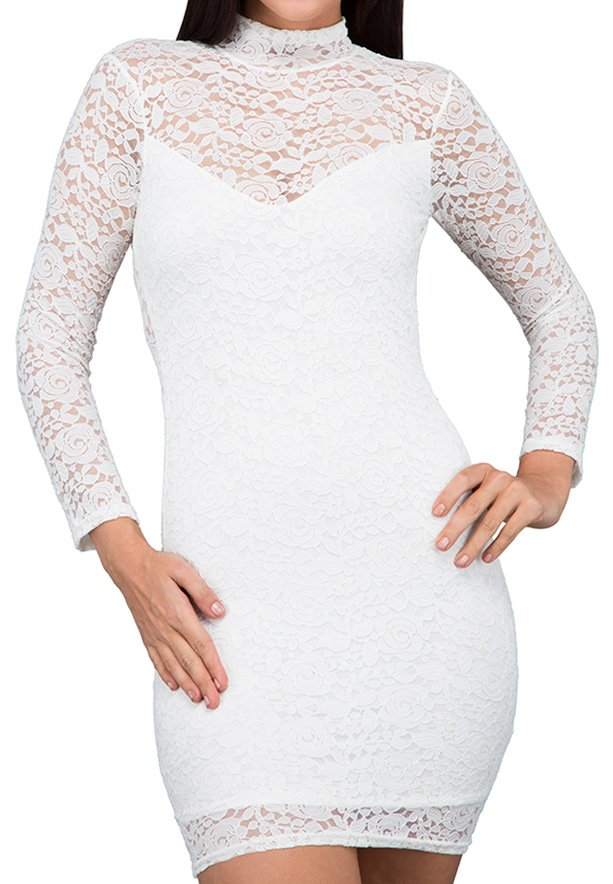 TFNC London Rosalie Lace Formal Dress Cream - ANT 18070 - M