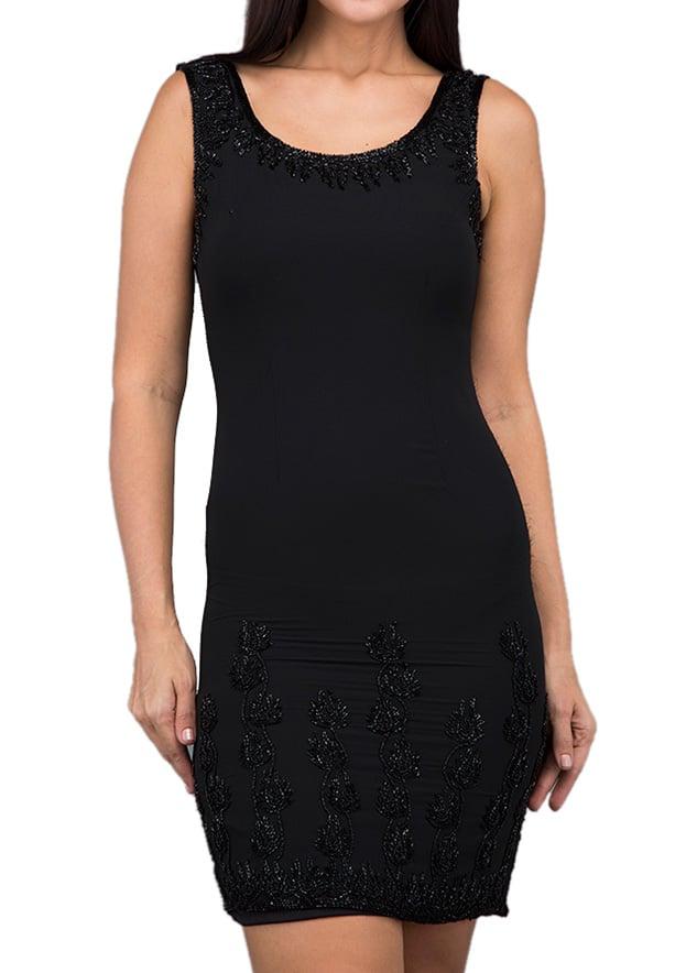 TFNC London London Sleeveless   Party Dress Black - LBD 01370 - M
