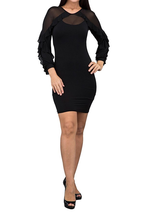 TFNC London Flame Formal Dress Black - ANT 53870 - XXL
