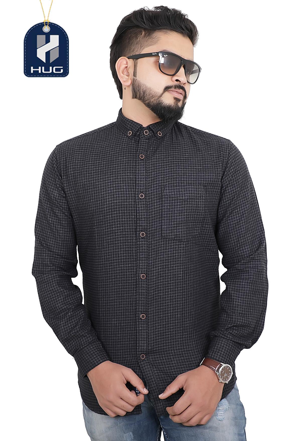 HUG Mens Casual Shirts Size M - SCBL0106
