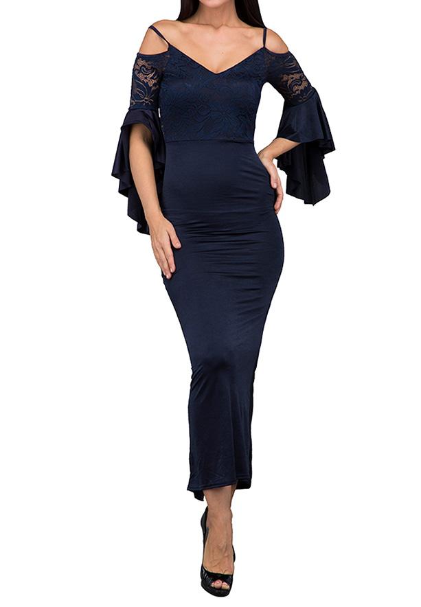 TFNC London Slovana Maxi Evening Dress Navy - ANT 59170 - L