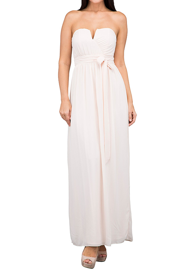 TFNC London Lama Maxi Evening Dress Nude - CTT 6363 - XXL