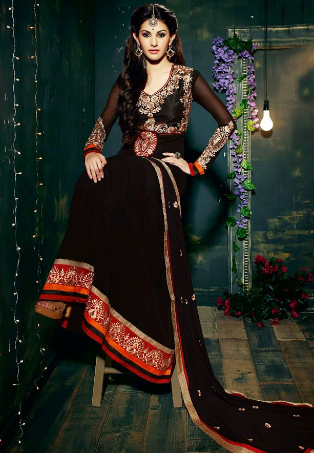 Fiona 11117 Georgette With Embroidery Designer Anarkali Dress Material