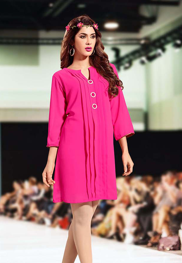Falak Kurtis Fully stiched with Inner Pink - XXL