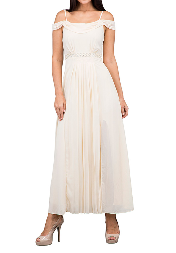 TFNC London Bette Maxi Evening Dress Creme - TNV 3270 - XL