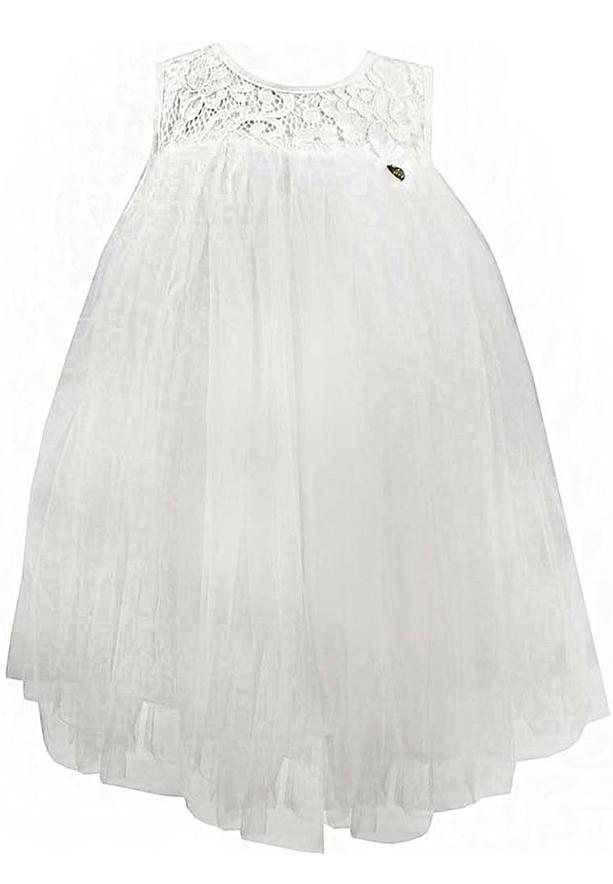 Amigo 7  Children Dress  White - 6-9M