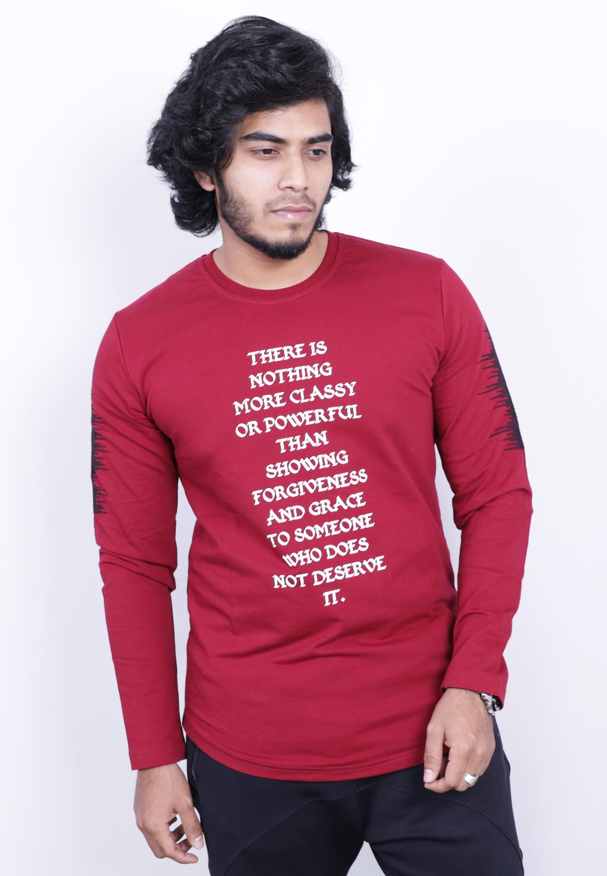 7e499fc37 Buy Saw Mens Full Sleeve Tshirt Red - 1013 - XXL Red Online Dubai ...