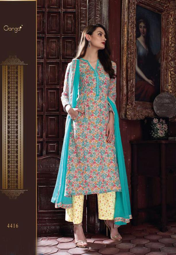Ganga Guzarish Salwar Suit Dress Material, 4416