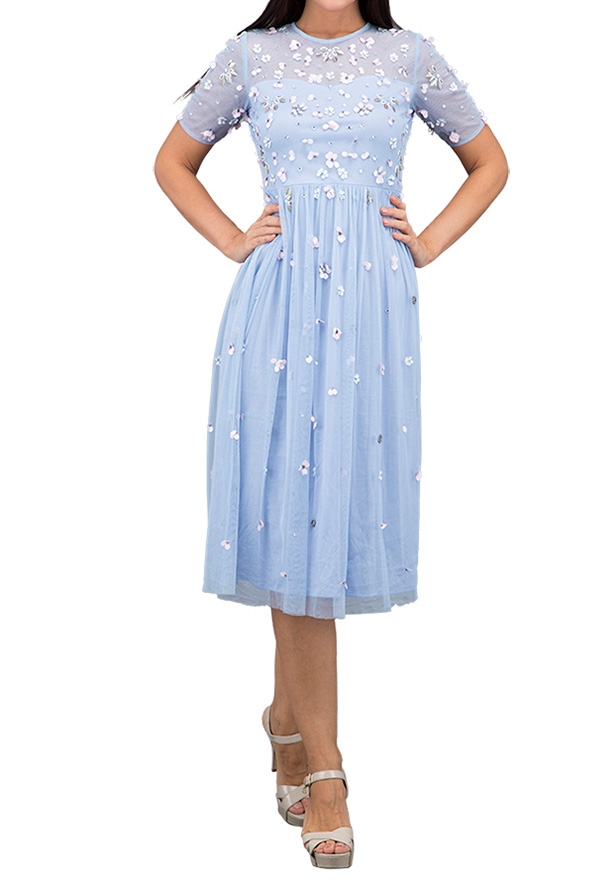 TFNC London Baby Formal Dress With Lining Blue - LNB 18375 - L