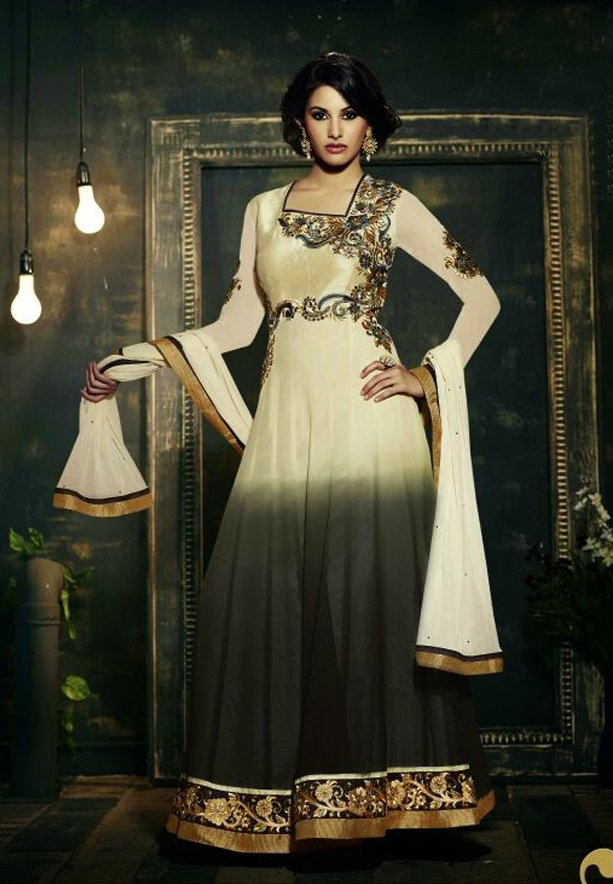 Fiona 11112 Georgette With Embroidery Designer Anarkali Dress Material
