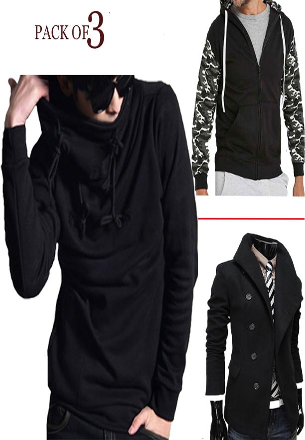Mens Fashionable Turtle Hood+Mens Coat+ArmyHood -M