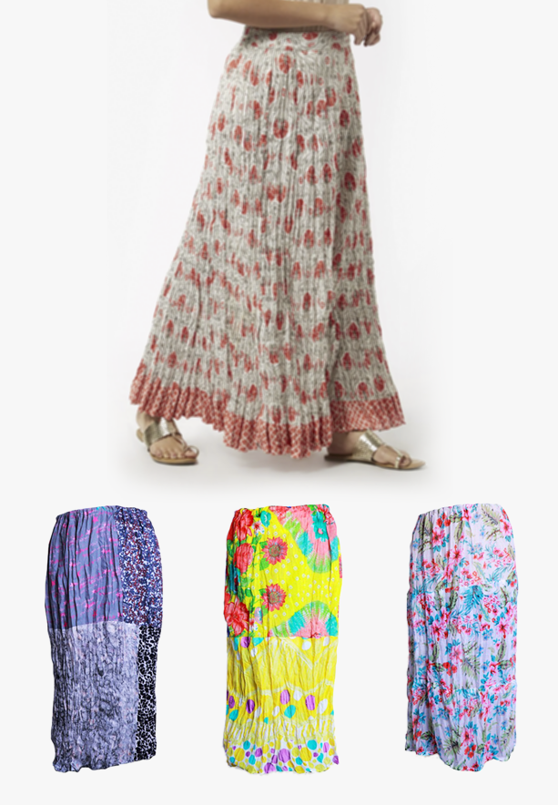 3 in 1 Ladies Fashion Skirt sets OS013 Assorted Color