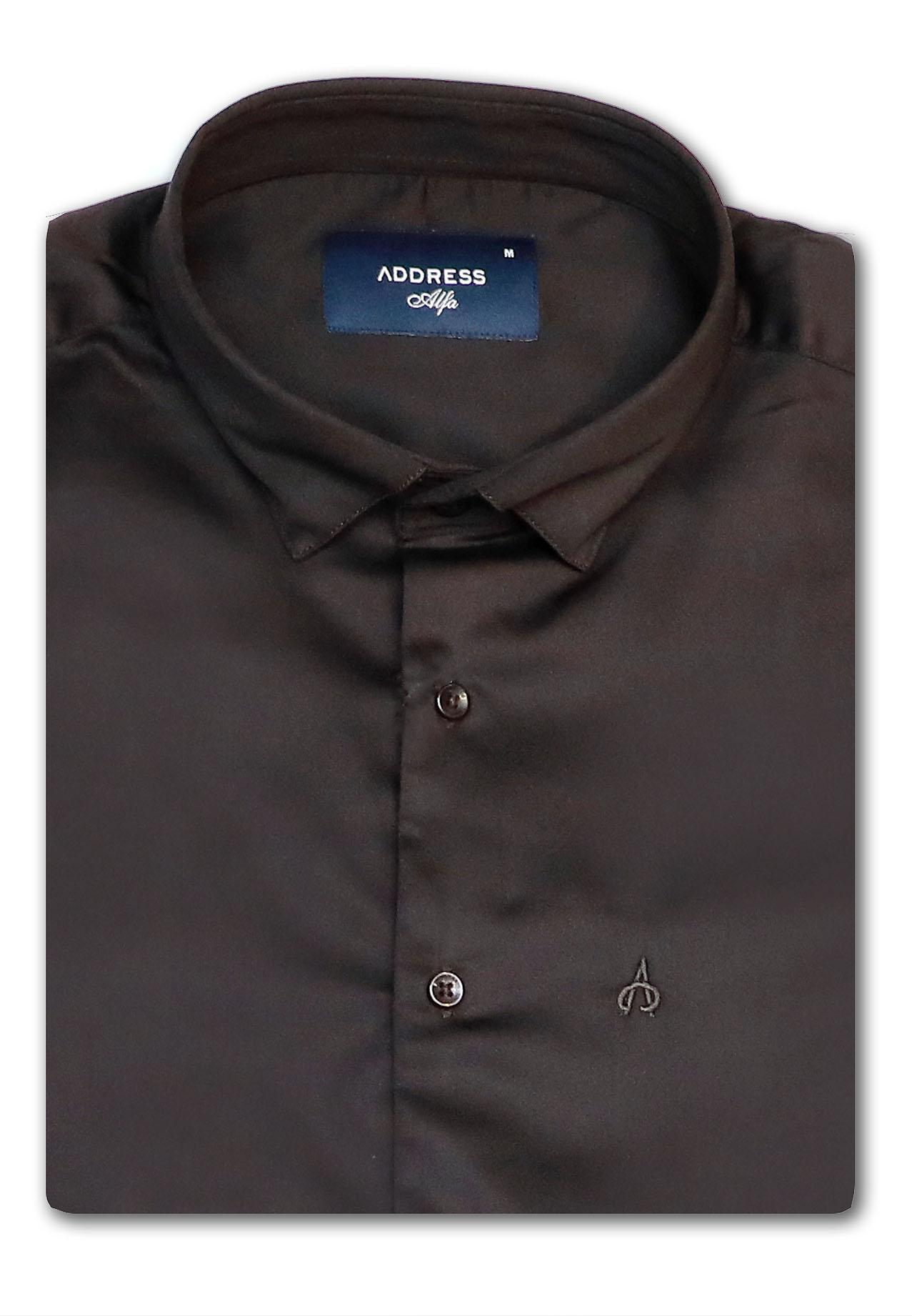 Address Formals Shirt Black, Large