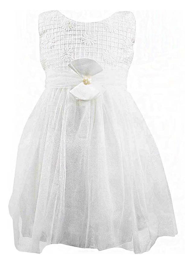 Amigo 7  Children Dress  White - 6-9M - 1306