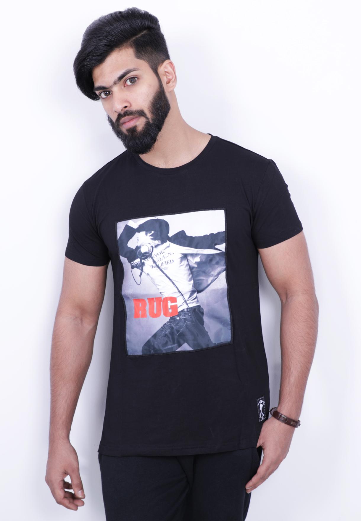 Kenyos Mens Tshirt Black - KAABE14914X - M