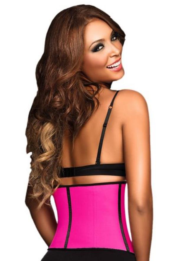 Chery Women Workout Waist Cincher Pink Size S
