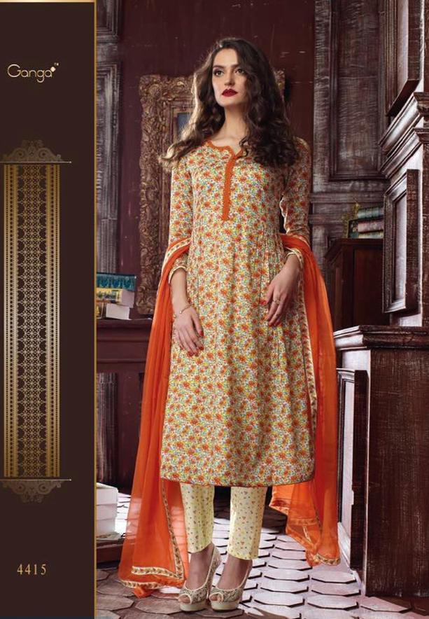 Ganga Guzarish Salwar Suit Dress Material, 4415