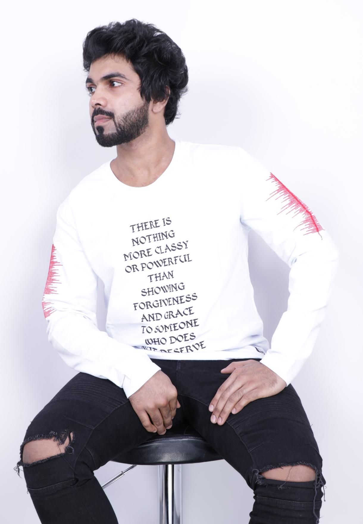 93be8a93a Buy Saw Mens Full Sleeve Tshirt White - 1013 - XXL White Online Dubai
