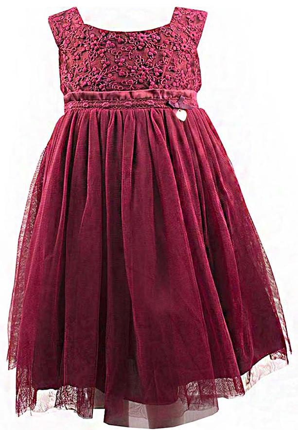 Amigo 7  Children Dress  Wine Red - 6-9M - 1307