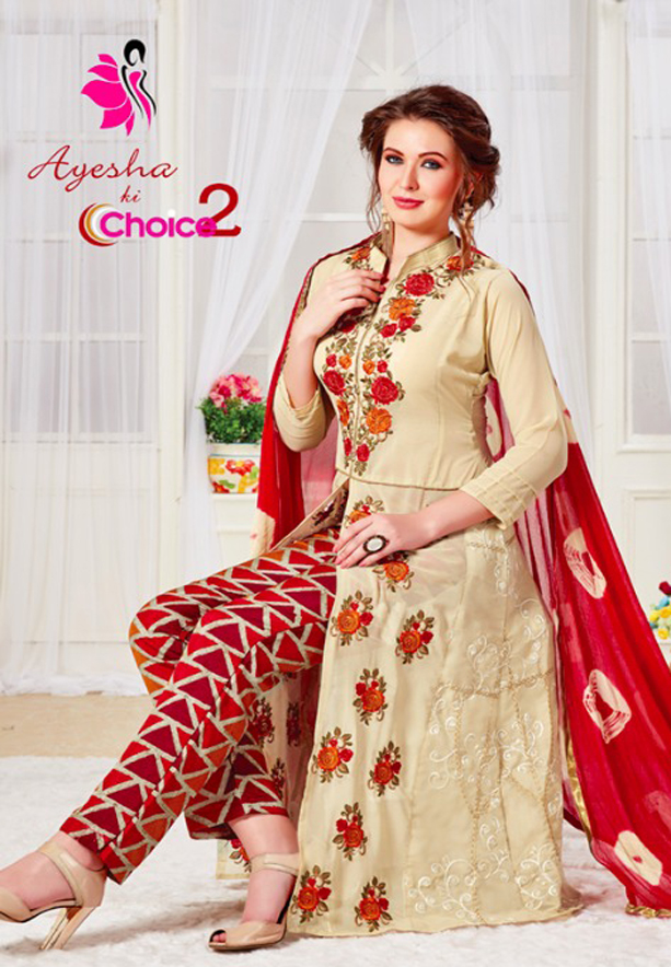 Khushika Ayesha ki choice 7006, Salwar Suit Dress Material