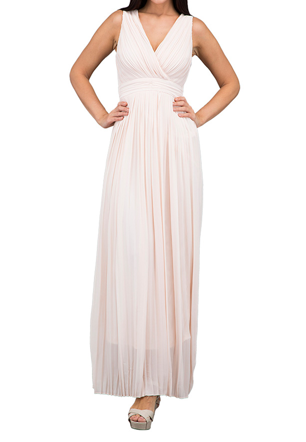 TFNC London Stella Maxi Evening Dress Nude - TFN 6118 - XL