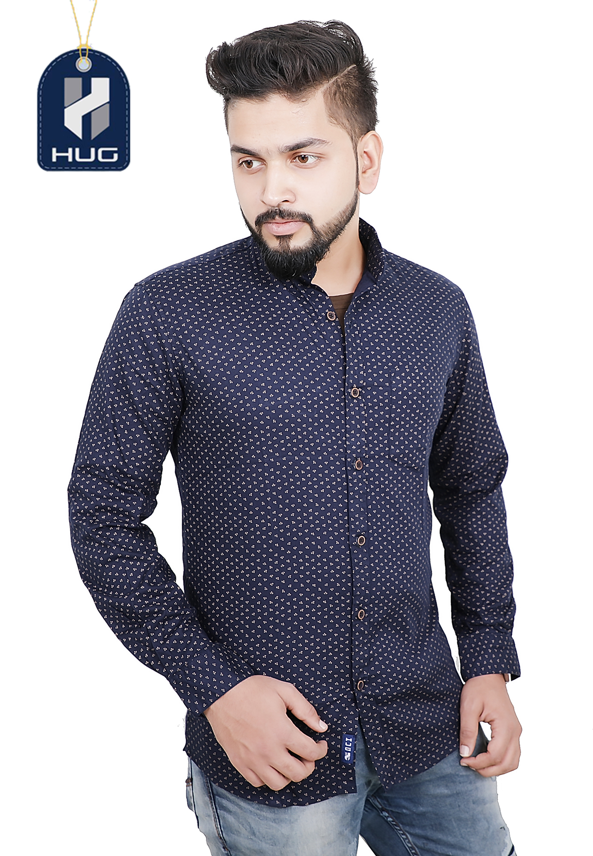 HUG Mens Casual Shirts Size XL - FBU 0119