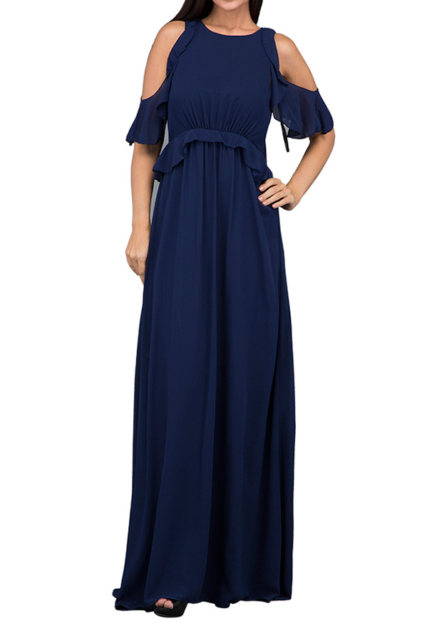 TFNC London Soledo Maxi Dress Navy - ELBZ 6415 - XXL