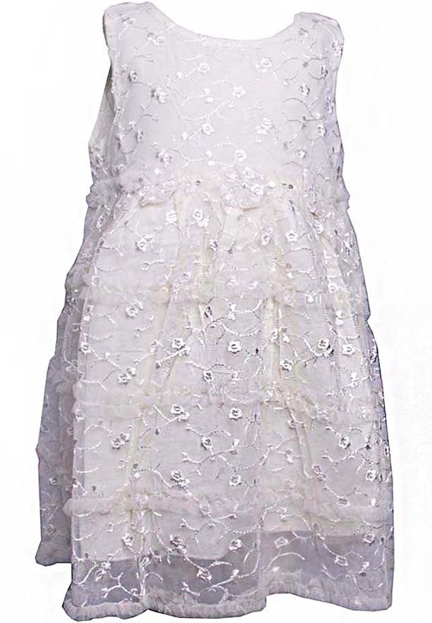 Amigo 7 Children Dress Ivory -6-9M - 1162