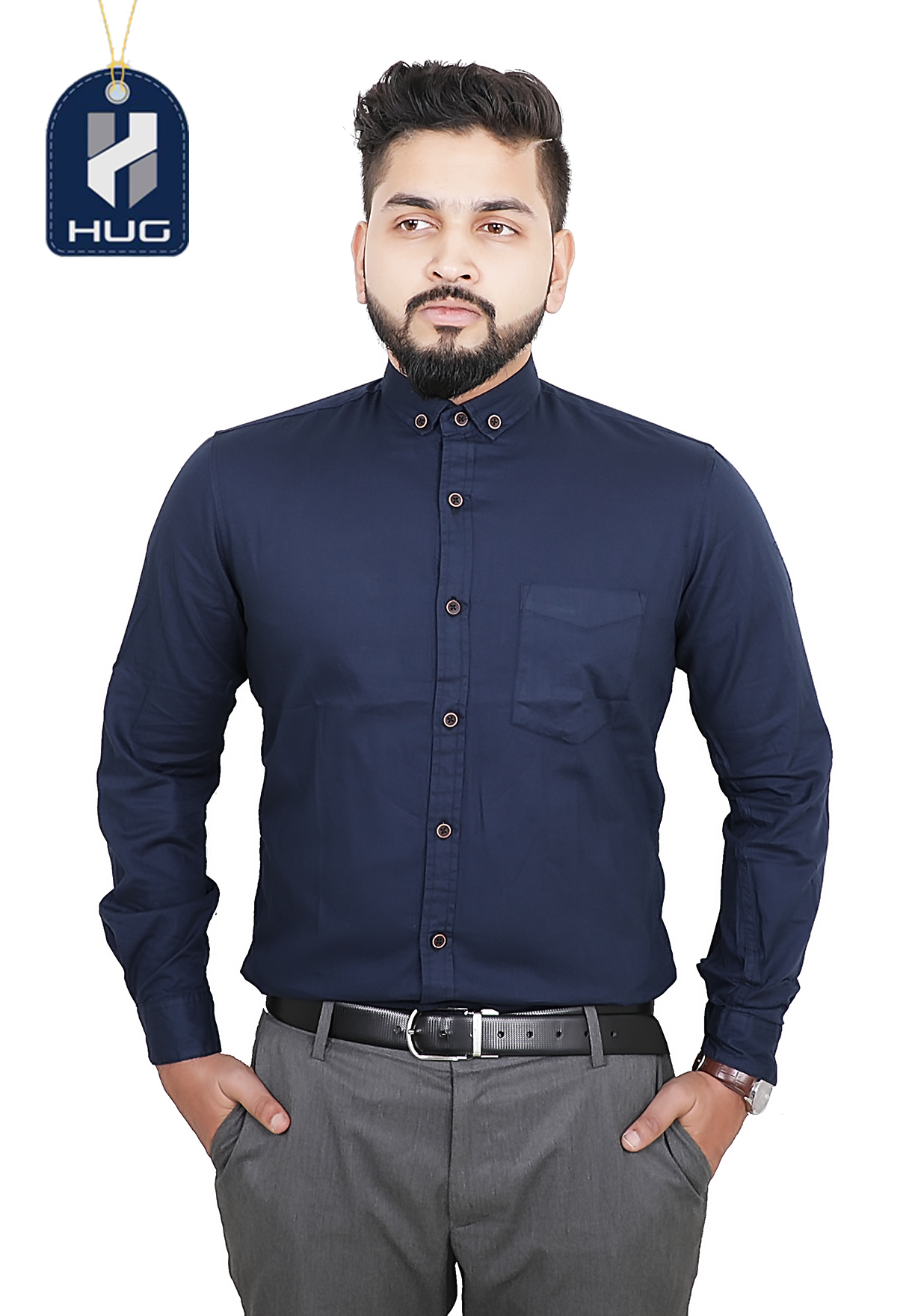 HUG Mens Casual Shirts Size M - PNB 0111