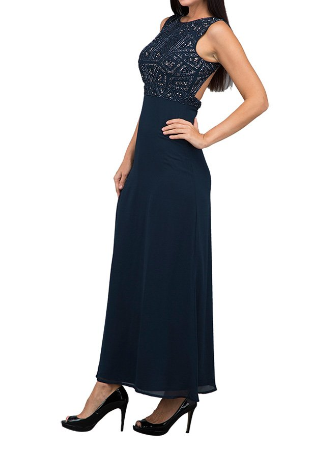 TFNC London Star Ob Maxi Evening Dress Navy - LNB 12070 - L