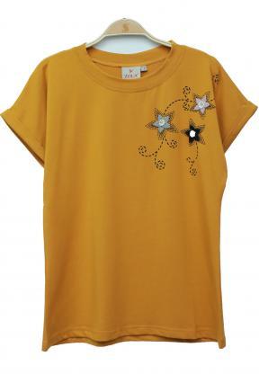Zola Ladies T-Shirt, Yellow- ZL6827
