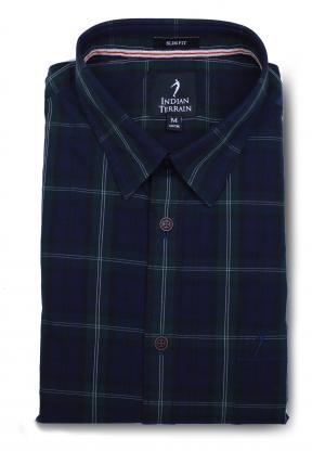 Indian Terrain ITMSH01360 Mens Casual Shirt, Size 38