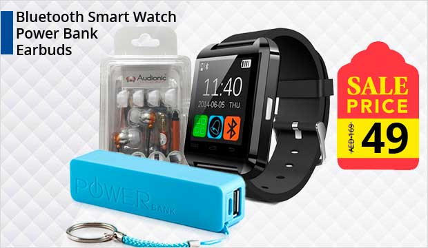 Bundle Offer! OEM Bluetooth Smart Watch & Get Power Bank + Audionic EM-280 Earphone FREE