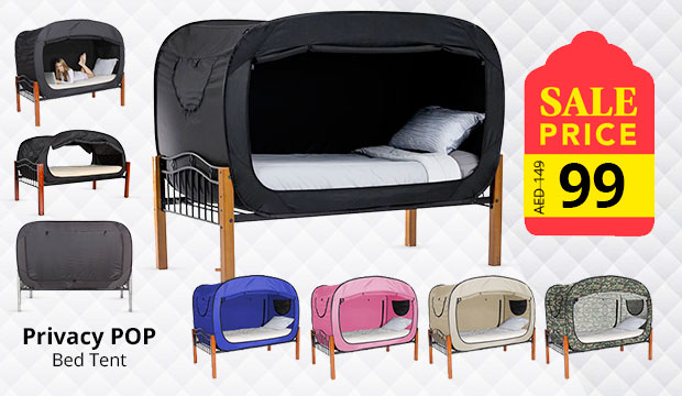 Privacy POP Bed Tent, With  Double sided zippers